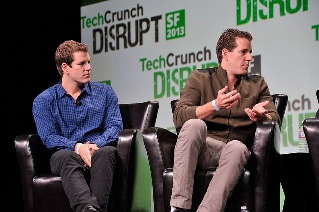 The Winklevoss Brothers Image: Flickr user TechCrunch, Max Morse