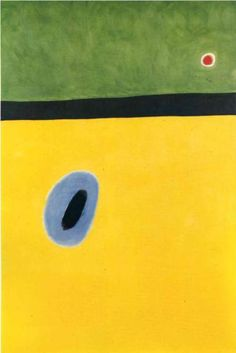 The Larks Wing, Encircled with Golden Blue, Rejoins the Heart of the Poppy Sleeping on a Diamond-Studded Meadow - Joan Miro, 1967