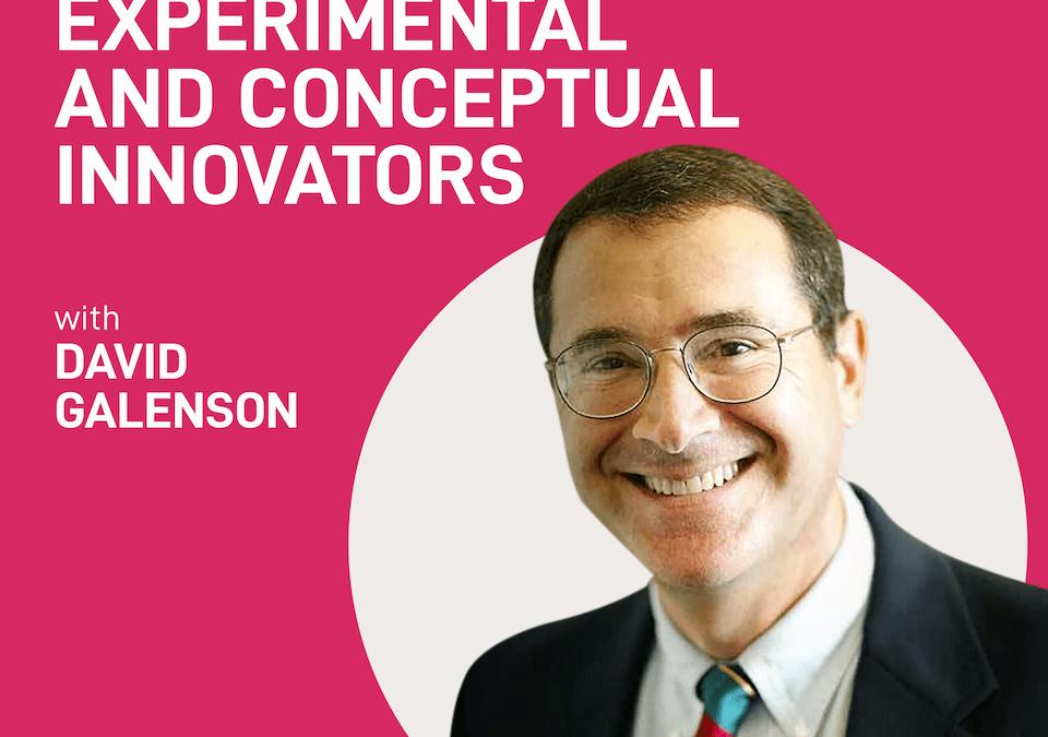 episode 9 – conceptual and experimental innovators | David Galenson